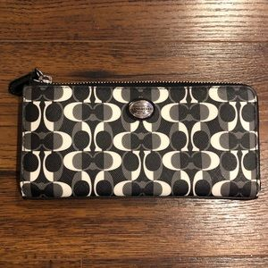 Coach Black White and Gray Wallet